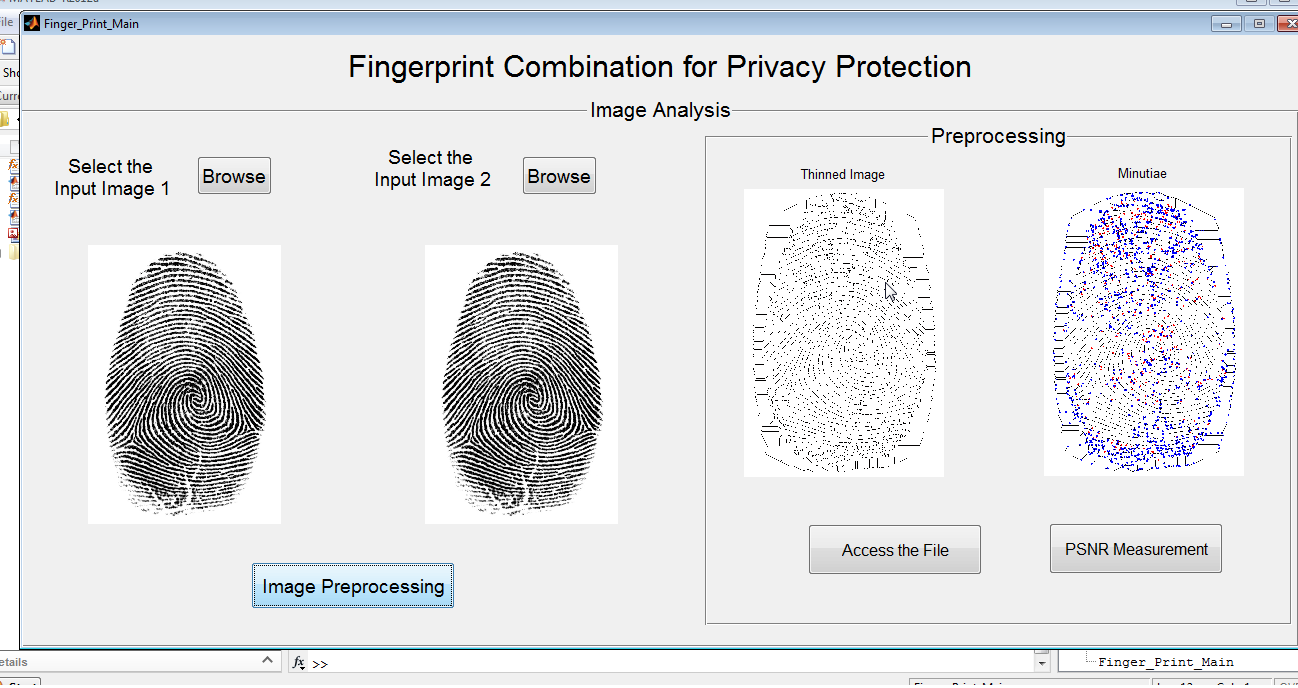 Finger Print Combination For Privacy Protection